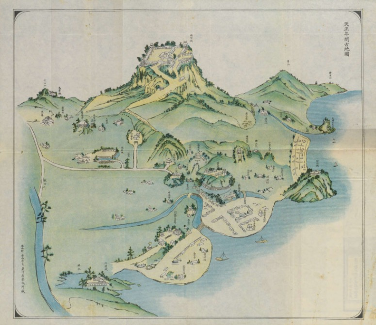 Old pictorial map of Kôzai